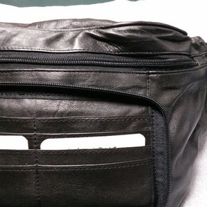 Wilsons Leather Bags - Wilson's Black leather fanny pack. Large